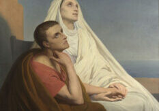Ary Scheffer Saints Augustine and Monica 1854 Oil on canvas, 135.2 x 104.8 cm Bequeathed by Robert Hollond, with a life-interest to his widow; entered the Collection, 1885 NG1170 https://www.nationalgallery.org.uk/paintings/NG1170